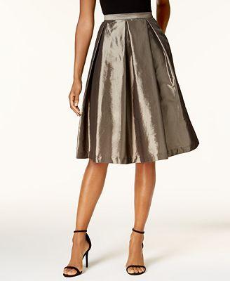 Alex Evenings A-Line Metallic Pleated Skirt
