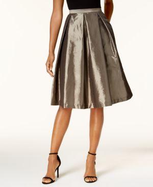 Alex Evenings A-Line Metallic Pleated Skirt thumbnail