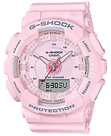 G-Shock Women's Analog-Digital Pink Strap Step Tracker Watch 50mm