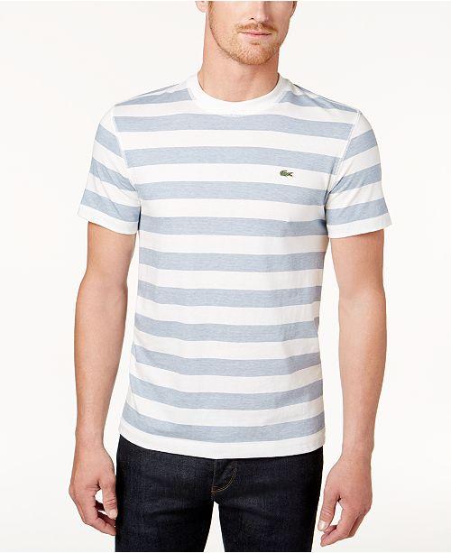 f1160d6233 Lacoste Men's Striped Jersey T-Shirt; Lacoste Men's Striped Jersey T- ...