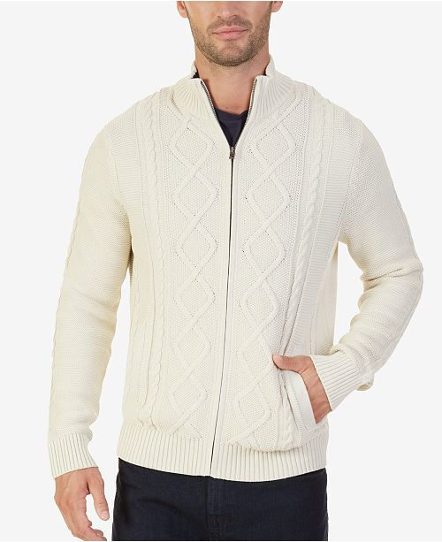 Nautica Mens Full Zip Cable Knit Cardigan Sweaters Men Macys