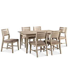 CLOSEOUT! Kips Cove Dining Furniture, 7-Pc. Set (Dining Table & 6 Side Chairs)