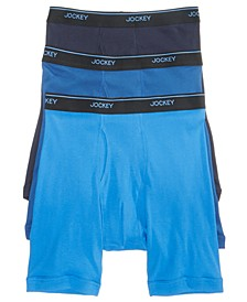 Men's 3-Pack Essential Fit Cotton Staycool+ Midway Boxer Briefs