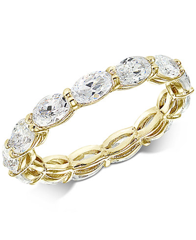 Giani Bernini Cubic Zirconia Oval Eternity Band In 18k