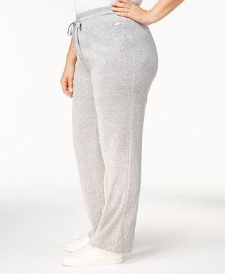 Calvin Klein Plus Size Velour Pants