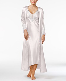 Stella Satin Venise Trim Robe