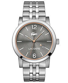 Lacoste Men's Metro Stainless Steel Bracelet Watch 42mm