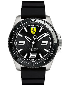 Ferrari Men's XX Kers Black Silicone Strap Watch 44mm