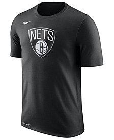 Nike Men's Brooklyn Nets Dri-FIT Cotton Logo T-Shirt