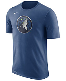 Nike Men's Minnesota Timberwolves Dri-FIT Cotton Logo T-Shirt
