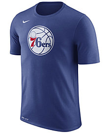 Nike Men's Philadelphia 76ers Dri-FIT Cotton Logo T-Shirt