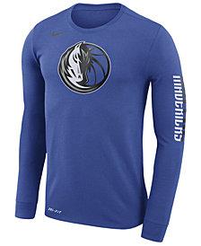 Nike Men's Dallas Mavericks Dri-FIT Cotton Logo Long Sleeve T-Shirt