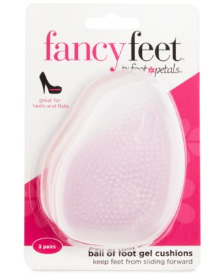 Fancy Feet by Ball of Foot Gel Cushions Shoe Inserts 3 Pairs