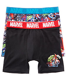 Marvel 2-Pk. Avengers Boxer Briefs, Little Boys & Big Boys