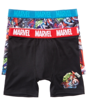 Marvel 2Pk Avengers Boxer Briefs Little Boys (47)  Big Boys (820)