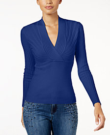 I.N.C. Petite Ribbed Pullover Sweater, Created for Macy's