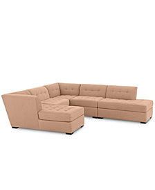 Roxanne II Performance Fabric 5-Pc. Modular Sofa with Bumper & Chaise - Custom Colors, Created for Macy's
