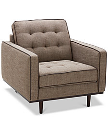 "CLOSEOUT! Tianah 37"" Fabric Armchair, Created for Macy's"