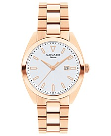 Women's Swiss Heritage Series Datron Rose Gold-Tone Stainless Steel Bracelet Watch 31mm