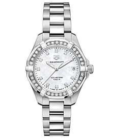 Women's Swiss Aquaracer Diamond (3/4 ct. t.w.) Stainless Steel Bracelet Watch 32mm