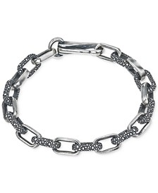 Textured Link Bracelet in Sterling Silver, Created for Macy's