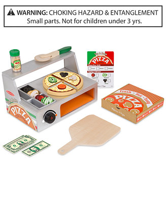 Melissa & Doug Top & Bake Wooden Pizza Counter Set by General