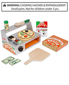Melissa & Doug Top & Bake Wooden Pizza Counter Set