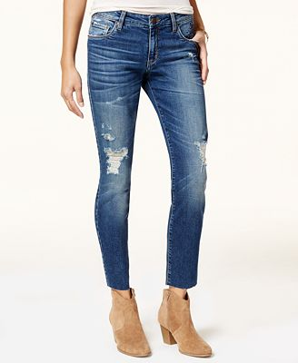 STS Blue Taylor Straight Leg Floral Embroidered Jeans