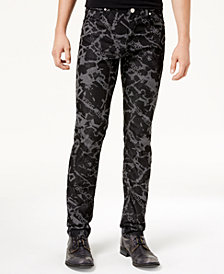 Versace Men's Graphic-Print Jeans