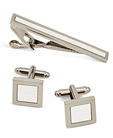 the GIFT Men's Tie Bar & Cuff Links Set