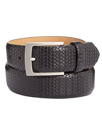 Tasso Elba Men S Braided Leather Belt Created For Macy S Reviews