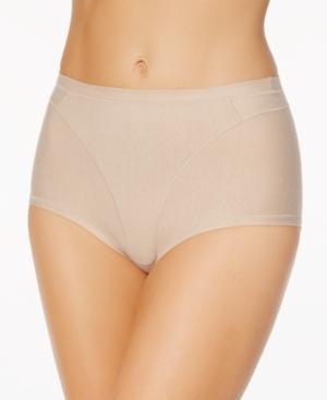 Women's Light Control High-Waist Panty in Cotton 01214A
