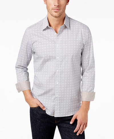 Con.Struct Men's Grid-Print Shirt, Created for Macy's