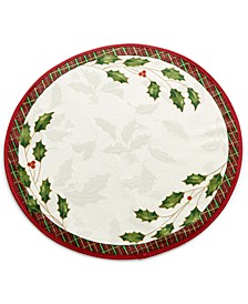 Table Linens, Holiday Nouveau Round Placemat