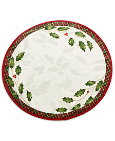 Lenox Table Linens, Holiday Nouveau Round Placemat