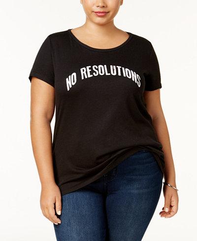 Sub_Urban Riot Plus Size No Resolutions T-Shirt