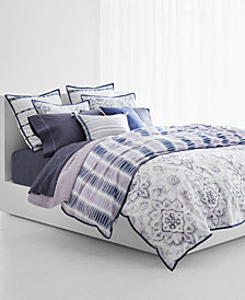 CLOSEOUT! Lauren Ralph Lauren Luna 3-Pc. Cotton Reversible Full/Queen Duvet Cover Set