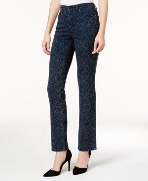 Charter Club Lexington Printed Straight-Leg Jeans, Created for Macy's 6364349