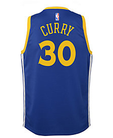 Nike Stephen Curry Golden State Warriors Icon Swingman Jersey, Big Boys (8-20)