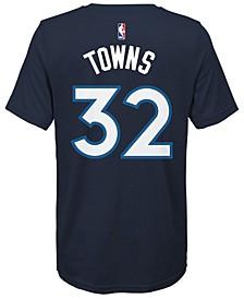 Karl-Anthony Towns Minnesota Timberwolves Icon Name & Number T-Shirt, Big Boys (8-20)