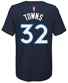 Nike Karl-Anthony Towns Minnesota Timberwolves Icon Name & Number T-Shirt, Big Boys (8-20)