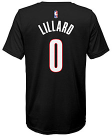 Nike Damian Lillard Portland Trail Blazers Icon Name & Number T-Shirt, Big Boys (8-20)