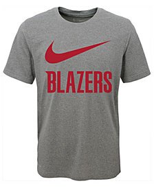 Nike Portland Trail Blazers Swoosh Team T-Shirt, Big Boys (8-20)