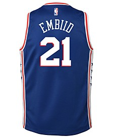 Joel Embiid Philadelphia 76ers Icon Swingman Jersey, Big Boys (8-20)
