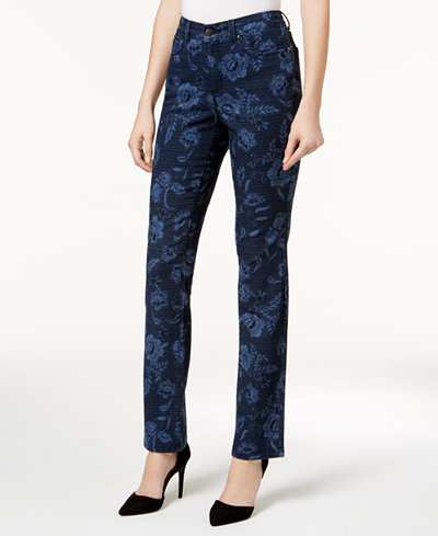Charter Club Lexington Printed Straight-Leg Jeans, Created for Macy's