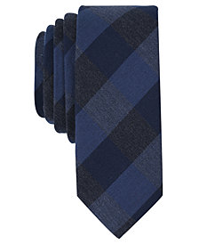 Original Penguin Men's Rosebud Check Skinny Tie
