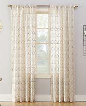 Lichtenberg No. 918 Lima Embroidered Scallop Sheer Rod-Pocket Curtain Panels