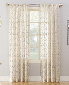 "Lichtenberg No. 918 Lima Embroidered Scallop 50"" x 95"" Sheer Rod-Pocket Curtain Panel"