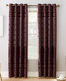 Elidah Textured Velvet Medallion Energy-Efficient Blackout Grommet Curtain Panels