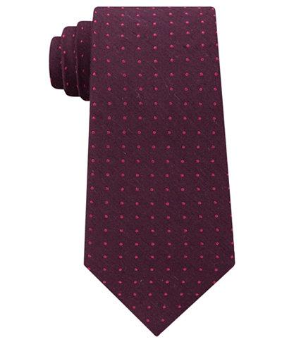 Calvin Klein Men's Tonal Dot Tie